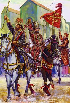 Co-emperor Andronicos III assembles an army to overthrow his grandfather, Andronicos II, Easter 1321