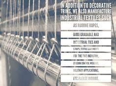 Industrial textiles - American Made, #fringemarket #passementerie #textiles #industrialtextiles #textilemill