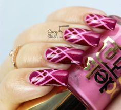 Art Deco Tape Nail Art feat. Models Own Diamond Luxe Collection