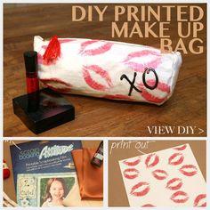 DIY Printed Make Up Bag DIY bag