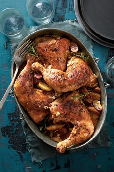 Summer Slow-Cooker Recipes: Rosemary-Garlic Chicken Quarters