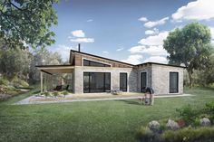 Modern Style House Plan - 2 Beds 1.00 Baths 850 Sq/Ft Plan #924-3 Exterior - Rear Elevation