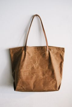 ETWAS Waxed Canvas Tote Bag. Living in Switzerland sucks so hard when it comes to shopping.