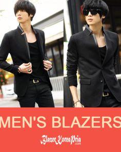 Blazer Korea Pria Variasi List Grey