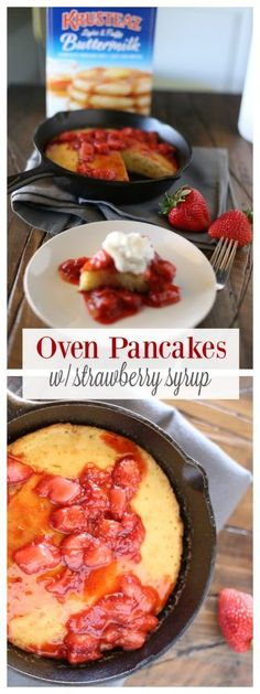 Oven Pancakes with Strawberry Sauce - The Taylor House