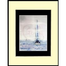 Sailers  Pastel on Arches paper
