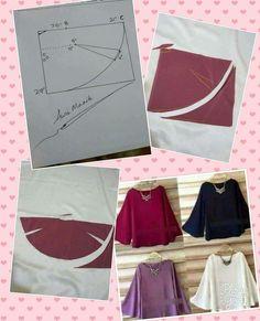 Simple blouse - #costura #Costurafacil #Moldesdevestidos #Patronesdecostura #Proyectosdecostura #Ropareciclada #Técnicasdecostura