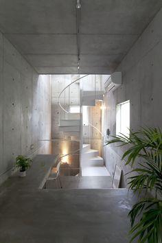 Büro Architecture Melbourne loves kap - tokyo japan - komada architects' office - photo by toshihiro sobajima [concrete interior] Modern Interior, Interior And Exterior, Pastel Interior, Interior Colors, Luxury Interior, Modern Luxury, Architecture Design, Installation Architecture, Chinese Architecture