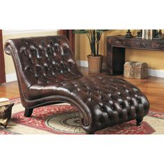 Lazzaro Leather Chaise Lounge