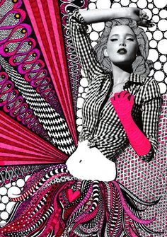 All over fashion inspiration illustration: Illustration Nikki Farquharson
