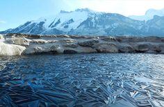 A frozen pond, Switzerland