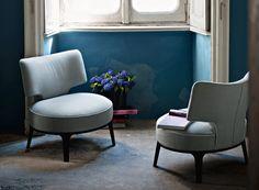 Flexform Mood Drop Armchair, contemporary armchair from designer Italian brand Flexform Mood, part of the Flexform company. Outdoor Dining Chair Cushions, Lounge Sofa, Furniture Showroom, Sofa Furniture, Modern Furniture, Contemporary Armchair, Accent Chairs Under 100, Ottoman Sofa, Modern Lounge