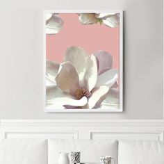 Pink magnolias evoke summer days on southern porches. Add this beautiful print to your gallery. Frame not included. Space Character, Moth Orchid, Southern Porches, Lemon Print, Pin Art, All Wall, Wall Decor, Art Prints, Wallpaper