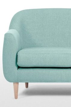 The Tubby 2 Seater Sofa in Turquoise Blue. A stylish, versatile addition to a smaller space. Nautical Cushions, Home And Living, Living Room, 2 Seater Sofa, Decoration, Cool Furniture, Interior Inspiration, Small Spaces, Love Seat
