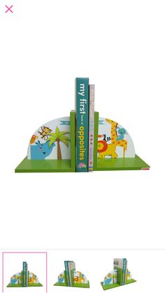 Animal bookends. Great to organise your books in place