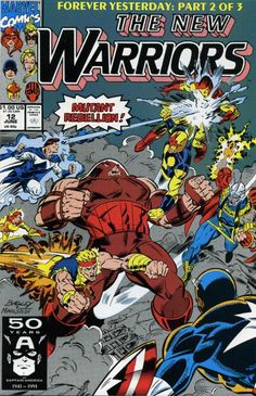 New Warriors # 12 by Mark Bagley & Larry Mahalstedt