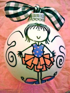 Fairy  Hand Painted Personalized Ornament  Pink by HappyYouHappyMe, $14.00