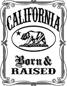"""California Flag Bear - Born and Raised"" Stickers by robotface California Girl Quotes, California Bear Tattoos, California Logo, California Republic, Salinas California, Chicano Style Tattoo, Chicano Art, Chicano Tattoos, Oakland Raiders Logo"