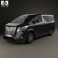 Toyota Alphard (CIS) 2015 3d model from Humster3D.com