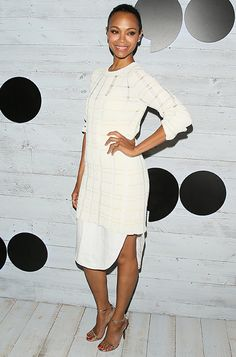 Zoe Saldana wearing the Jimmy Choo MINNY sandals