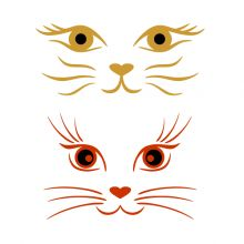 Cat Face SVG Cuttable Design