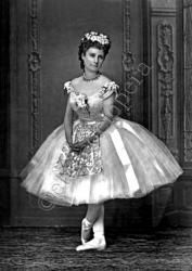 """Leontine Beaugrand (1842-1925) was a ballerina who, during the siege of Paris organized groups to collect food and money and worked in the soldier's hospital in the basement of Comedie Francaise. After the siege she revived """"Coppelia"""" with herself in the title role, and Eugenie Fiocre repeating her role of Franz. Student of Marie Taglioni and Mdme. Dominique"""