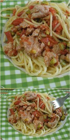 Spaghetti con asparagi e salsiccia, super appetitosi!