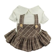 Fitwarm Adorable Plaid Pet Clothes Dog Overalls Dress Shirts Cat Apparel, Brown >>> Check this awesome product by going to the link at the image. (This is an affiliate link and I receive a commission for the sales) Cheap Dog Clothes, Pet Clothes, Clothes For Women, Dog Clothing, Dog Overalls, Designer Dog Clothes, Dog Pajamas, Dog Clothes Patterns, Cat Dresses