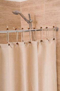 This Hemp Shower Curtain Powder Blue Width X Drop Is