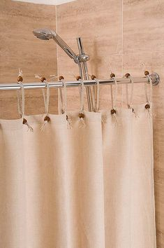 This Hemp Shower Curtain Powder Blue Width X Drop Is
