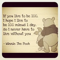 Oh Pooh... He may act in the silliest ways, but he has the BIGGEST heart