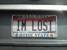 The plate that could use a little direction. | 27 Brutally Honest License Plates
