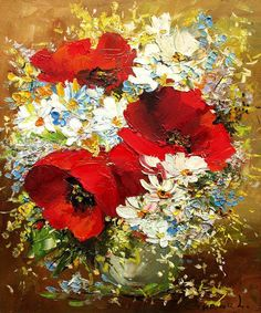 Garden poppies by Ludmila Gurar Poppy Flower Painting, Flower Art, Art Festival, Red Poppies, Beautiful Paintings, Painting & Drawing, Watercolor Art, Artwork, Flowers