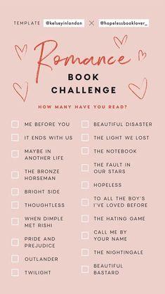Romance Book Challenge