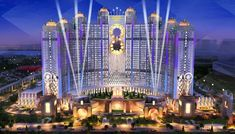 Studio City is a glamorous entertainment resort in Macau with a luxury hotel, iconic attractions, global dining, shopping streets and an opulent casino. Futuristic City, Futuristic Architecture, Studio City Macau, Macao, Fantasy Castle, Casino Theme, Casino Games, Gotham City, Cool Places To Visit