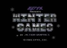 A collestion of high-res title screens using superb PAL filters for recreating what it really looked like back Winter Games, Computer Keyboard, Screens, Canvases, Computer Keypad, Keyboard, Window Screens