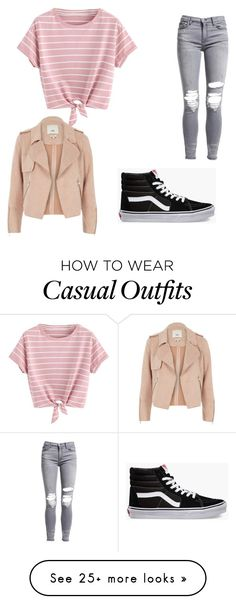 """Casual cropped"" by morgan-mcgrath1 on Polyvore featuring AMIRI, Vans and River Island"