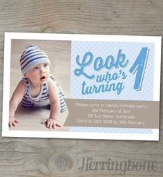 Baby Boys Birthday Party Printable Invite