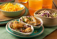 Enjoy delicious Mexican food with this Mini Crispy Chicken Stand 'N' Stuff™ Tacos recipe from Old El Paso, a quick and easy dinner that will leave clean plates Best Easy Dinner Recipes, Entree Recipes, Wrap Recipes, Mexican Food Recipes, Cooking Recipes, Delicious Recipes, Mexican Meals, Easy Cooking, Mini Tacos