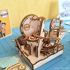 Thinkineer DIY marble maze kit that kids can build themselves. So cool! And just launched today!
