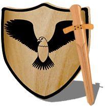Ein Ritterschild zum Schutz kleiner Helden selber bauen