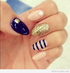 Navy and Nude