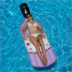 Inflatable Rose Wine Bottle Pool Float-Toy - www.Gifteee.com - Cool Gifts \ Unique Gifts - The Best Gifts for Men, Women and Kids of All Ages Pool Pool, Pool Water, Swimming Pools, Lego Dc, Water Sports Store, Pool Floats For Adults, Floating Raft, Adult Pool, Spa