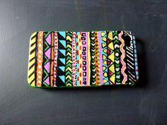 DIY Tribal cell phone case.
