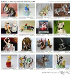 Treasury My Eye Is On These Figurines! CYBER MONDAY Happylilac.etsy.com