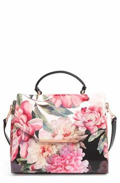 Ted Baker London Payeton Posie Large Leather Satchel