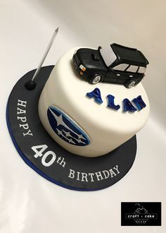 All edible cake featuring the Subaru Forester ✨ #subaru #subaruforester #subarucake #cars