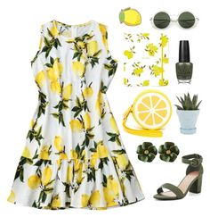 """""""Lemon 🍋 Summer"""" by eternalsonata ❤ liked on Polyvore featuring Shiraleah, Kate Spade, Chive, OPI and PINTRILL"""
