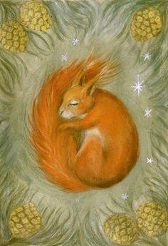 SQUIRREL Watercolor Greeting Card set - Squirrel Card - Blank Greeting Card - Folded Card - Animal Card - Art Card by SleepyBearsArt on Etsy