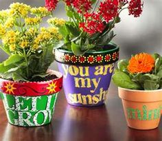 Cute painted pots